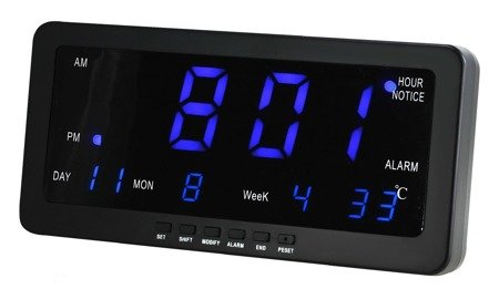 Zegar MPM sieciowy DUŻY 21 cm, termp. C02.3568.90