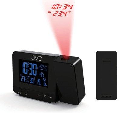 Zegar STACJA POGODY JVD  projektor DCF77  RB3531.1