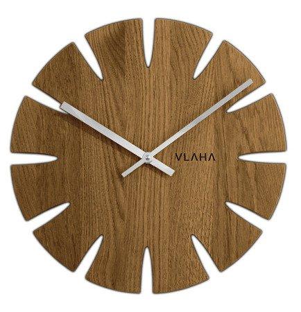 Zegar VLAHA ścienny RĘKODZIEŁO drewniany VCT1014