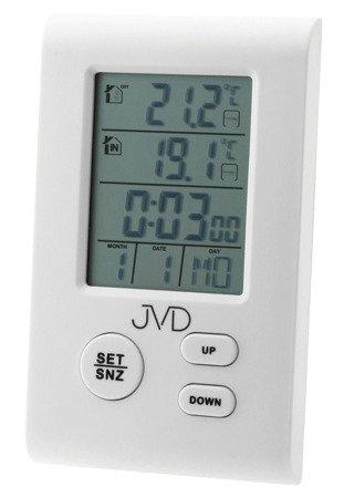 Zegar budzik JVD TERMOMETR czujnik 7x11,4cm T7009