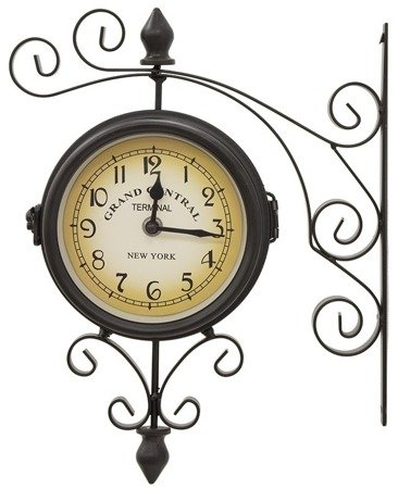 Zegar dworcowy, dwustronny retro New York 65335