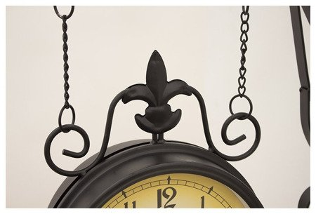 Zegar dworcowy dwustronny retro duży London 57380