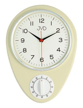 Zegar kuchenny JVD z MINUTNIKIEM ścienny klasyczny HO365.2