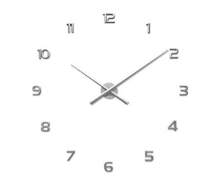 Zegar naklejany srebrny CAŁE CYFRY 90 cm LCT1171