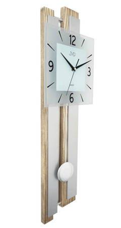 Zegar ścienny DREWNO szkło DUŻY wahadło NS19033