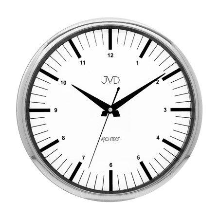 Zegar ścienny JVD nowoczesny chromowany błyszczący HT078.1