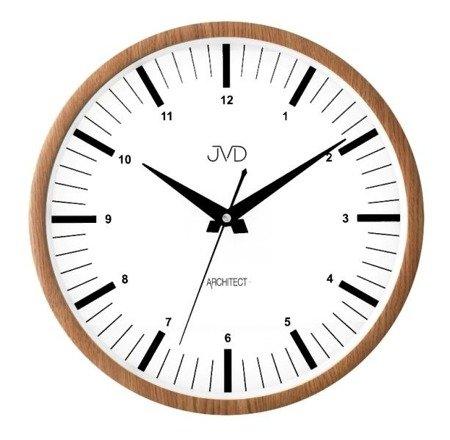 Zegar ścienny JVD nowoczesny imitacja drewna HT078.2