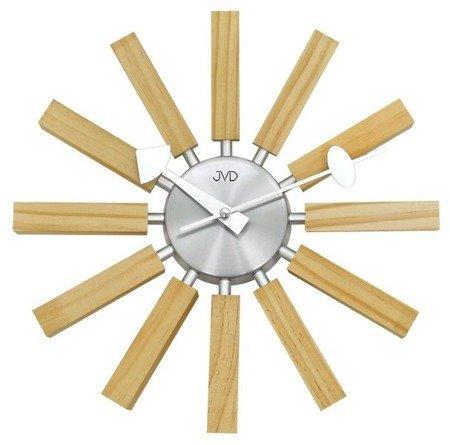 Zegar ścienny JVD nowoczesny sklejka HT103.1