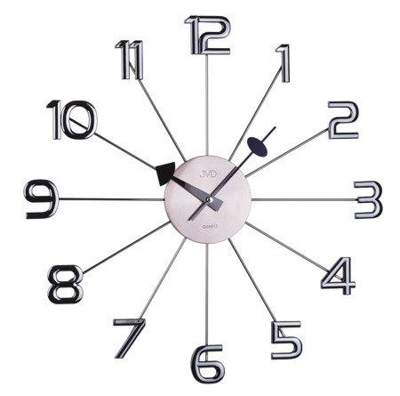 Zegar ścienny JVD stal duży Nowy Design HT072.1
