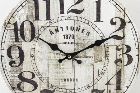Zegar ścienny MDF retro EFEKTOWNY 34 cm 124258