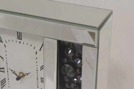 Zegar ścienny PIĘKNY kryształy lustro szkło NEW DESIGN 115928