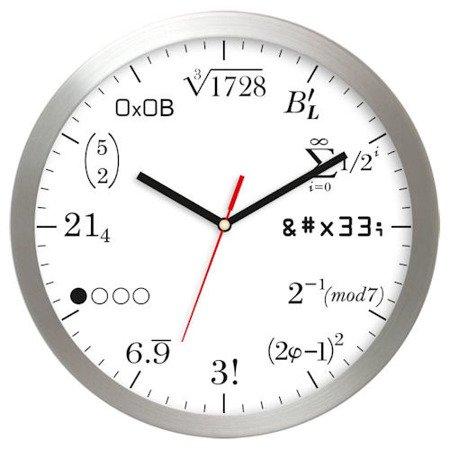 Zegar ścienny aluminium matematyczny średni AL02M2
