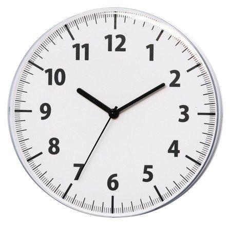 Zegar ścienny biały nowoczesny wypukłe szkło E01.3693.00