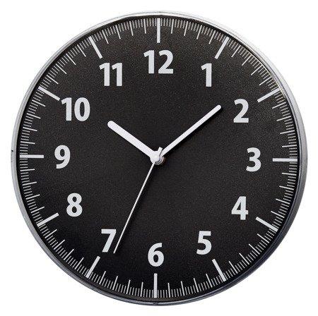 Zegar ścienny biały nowoczesny wypukłe szkło E01.3693.90