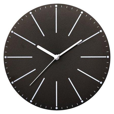 Zegar ścienny czarny nowoczesny E01.3692.90