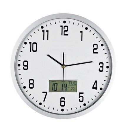 Zegar ścienny datownik termometr  ATE2014LT SW