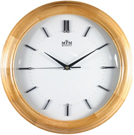 Zegar ścienny drewniany sosna krysztalki średni E07.2828.53