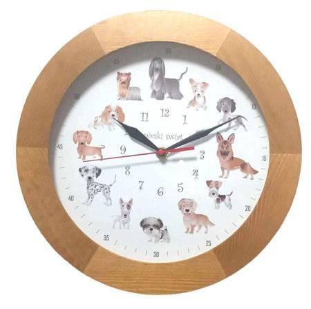 Zegar ścienny dziecięcy PIESKI  ATW300P1 JD SW