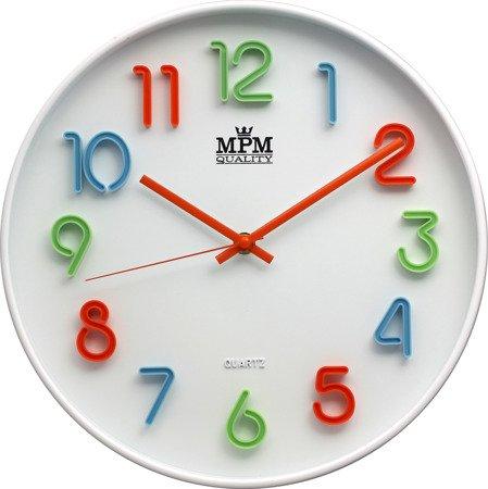 Zegar ścienny kolorowy efektowny czytelny E01.3460.00