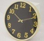 Zegar ścienny metalowy czarno-złoty nowoczesny elegancki  średni 103756