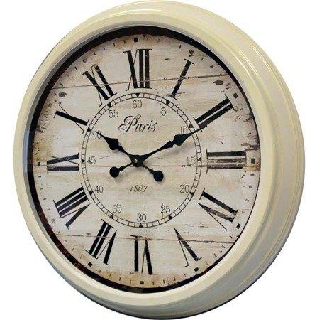 Zegar ścienny metalowy retro bardzo duży 77198