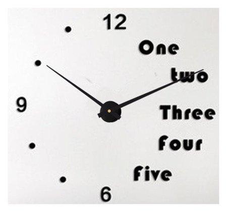 Zegar ścienny naklejany DIY czarny BARDZO DUŻY 120 cm DIY17B5