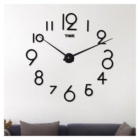 Zegar ścienny naklejany DIY czarny BARDZO DUŻY 130 cm DIY16B5