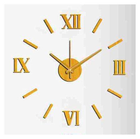 Zegar ścienny naklejany DIY złoty 60 cm E01.3513