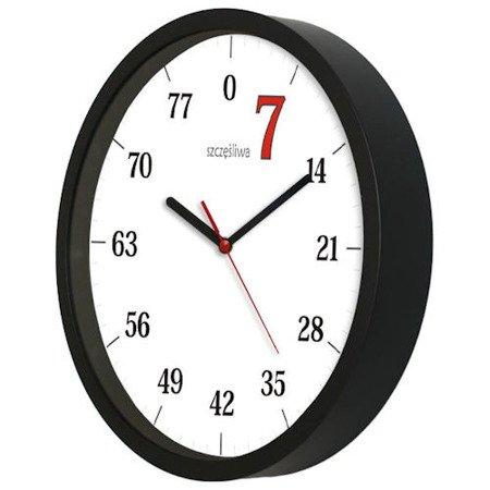 Zegar ścienny szczęśliwa siódemka AT ATE2301S7 BK