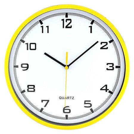 Zegar MPM ścienny 25,5 cm żółty tworzywo klasyczny czytelny E01.2478.10.A