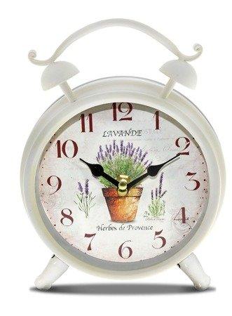 Zegar stojący METALOWY retro lawenda duży cm 93347