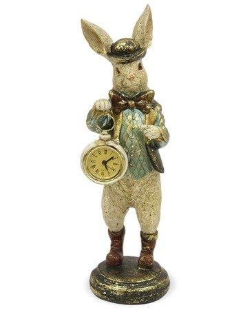 Zegar stojący figurka Królik i Alicja 33 cm 114077