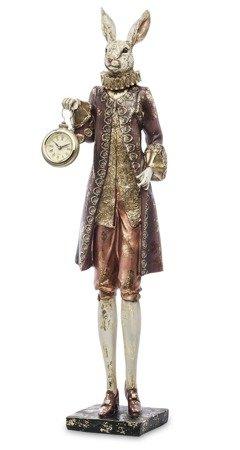 Zegar stojący figurka Królik i Alicja DUŻA 129145