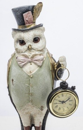 Zegar stojący figurka Sowa i Alicja 121683